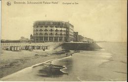 Westende -- Schoonzicht Palace Hôtel - Oostgevel En Zee.    ( 2 Scans ) - Westende