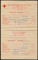 Palestine Red Cross Message Rafah POW Prisoner Of War - Palestine