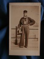 Photo CDV Daniels Dubar à Ostende - Métier, Employé Des Bains  Circa 1865 L438 - Photographs