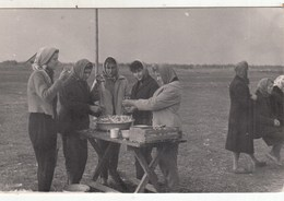 UKRAINE. #1562 A PHOTO. STUDENTS ON THE TOTAL. YOUNG PEOPLE READY TO EAT.  *** - Proyectores De Cine