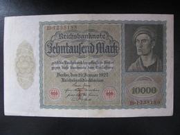 Germany Weimar Republic 10,000 Marks 1922 F Condition - [ 3] 1918-1933 : República De Weimar