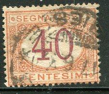 Regno D'Italia - 1890/94 - Segnatasse 40 C. Arancio E Carminio (o) - 1878-00 Humbert I