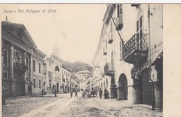 SUSA-TORINO-VIA PALAZZO DI CITTà-CARTOLINA NON VIAGGIATA- ANNO 1900-1904 - Italia