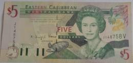 Billet Eastern Caribbean De 5 $ Neuf UNC Cote 2009: 32.50 $ - East Carribeans