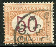 Regno D'Italia - 1890/94 - Segnatasse 50 C. Arancio E Carminio (o) - 1878-00 Humbert I