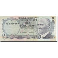 Billet, Turquie, 5 Lira, 1970, KM:185, TB+ - Turquie