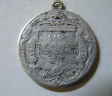 Méd. 15. Petite Médaille En Argent De La Compagnie Transatlantique. Havre New York 1900 - Professionnels / De Société