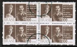 BRAZIL  Scott # 1011 VF USED BLOCK Of 4 (Stamp Scan # 487) - Brazil