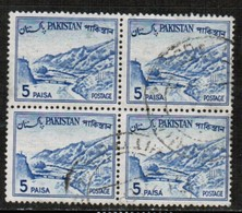 PAKISTAN  Scott # 132 VF USED BLOCK Of 4 (Stamp Scan # 487) - Pakistan
