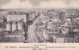 CARTOLINA - POSTCARD - STATI UNITI - NEW YORK - BROADWAY AND 73 STREET - THE ANSONIA - LOOKING NORTHWARD - Broadway
