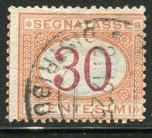 Regno D'Italia - 1890 Segnatasse (usato) 30 C. Arancio E Carminio - 1878-00 Humbert I