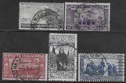 Italia Italy 1926 Regno San Francesco 5val Sa N.192,194-195,198-199 US - Usati