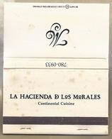 Matchbook.- LA HACIENDA D LOS MORALES. HOUSTON.. Pochette D'Allumettes. Lucifer Mapje. - Luciferdozen
