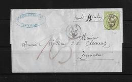 1854-1862 Helvetia (Ungezähnt) Strubel → 1858 Brief Sion Banque Cantonale Nach Zermatten  ►SBK-26C◄ - Covers & Documents