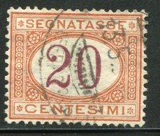 Regno D'Italia - 1890 Segnatasse (usato) 20 C. Arancio E Carminio - 1878-00 Humbert I