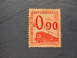 """1944-47 Petits Colis Postaux - Timbre Oblitéré   N° 40  """"  0.90 Rouge  """"         2 - Colis Postaux"""