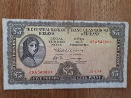 5 Livres Irlandaises Du 26/05/74 - Ireland