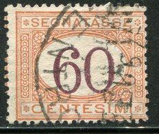 Regno D'Italia - 1890 Segnatasse (usato) 60 C. Arancio E Carminio - 1878-00 Humbert I