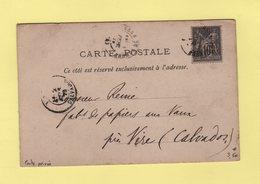 Carte Postale Privee Imprimerie Oberthur Et Fils - Type Sage - Gare De Rennes - 1879 - 1877-1920: Période Semi Moderne