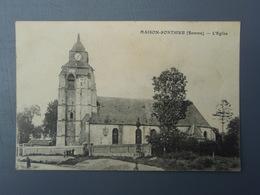 Cpa MAISON-PONTHIEU (Somme) - L'Eglise - Francia