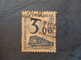 """1944-47 Petits Colis Postaux - Timbre Oblitéré   N° 43  """"  3 Frs    Bleu  """"        1 - Colis Postaux"""