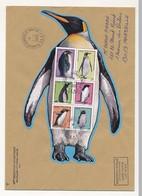 """TAAF - Bloc Feuillet """"Manchots"""" Sur Enveloppe Obl Dumont Durville T Adélie 1/1/2006 - 56eme Expédition - Terres Australes Et Antarctiques Françaises (TAAF)"""