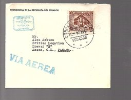 Cover From PRESIDENT Of Ecuador To British Legation Drawer Z Panama (403) - Ecuador