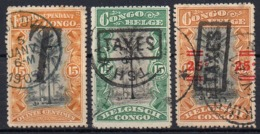 BELGISCH CONGO: Strafportzegels - Portomarken: Gebraucht
