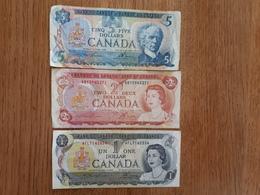 Lot De 3 Billets Canadiens En Bon état - Canada