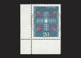 BRD 1970: Michel-Nr. 648, Deutscher Katholikentag, Eckrand Links Unten, Gestempelt - Gebraucht