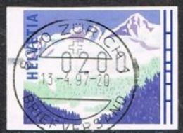 Switzerland Type C Machine Label Winter/Alps 200c Good/fine Used [17/15732/D] - Automatic Stamps