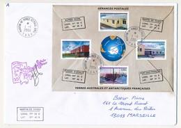 """T.A.A.F - Enveloppe """"Gérances Postales"""" - Martin De Vivies St Paul Ams - 1/1//2004 - La Gérante Postale Le Bret - French Southern And Antarctic Territories (TAAF)"""