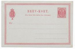 DANMARK - 1879 - CARTE ENTIER POSTAL Mi Nr. P12 NEUVE - Interi Postali