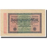 Billet, Allemagne, 20,000 Mark, 1923, 1923-02-20, KM:85b, TTB - 20000 Mark