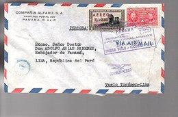 First Flight Tocument 1947 > Lima Peru Ambassador Of Panama SCARCE!! (406) - Panama