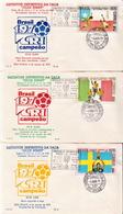 Brazil Set On 3 FDCs - 1970 – Mexico