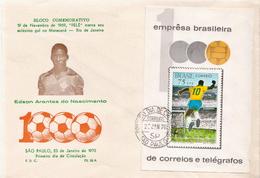 Brazil SS On FDC - Soccer
