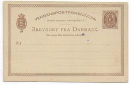 DANMARK - TYPE 1879 - CARTE ENTIER POSTAL Mi Nr. P11 NEUVE - Interi Postali