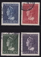 1946 Koningin Wilhelmina 1 / 10 Gulden Compleet NVPH 346 / 349 Gestempeld - Periode 1891-1948 (Wilhelmina)