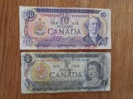 Lot De 2 Billets Canadiens - Canada
