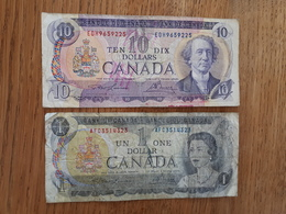 Lot De 2 Billets Canadiens - Kanada