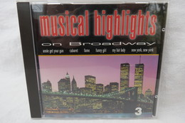 """CD """"Musical Highlights On Broadway"""" CD 3 - Musicals"""