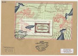 """TAAF - Feuillet """"Les Armateurs De Kerguelen"""" Sur Env. Obl Premier Jour 6/11/13 Port Jeanne D'Arc - French Southern And Antarctic Territories (TAAF)"""