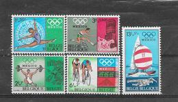 België  1968 Y&T 1456/60 (**) - Unused Stamps