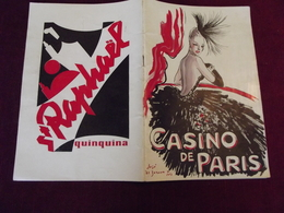 PROGRAMME DU CASINO DE PARIS Vers 1950 - Programas