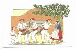 Illustrateur Annie-Odile Huet-Humeau Pays Basque Avant La Partie N° 87 Huet-Humeau Editeur 49600 Beaupreau - Illustrateurs & Photographes