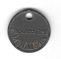 Jeton De Caddie  Packard  Bell  Multimédia  Recto  Verso ( Utilisé ) - Einkaufswagen-Chips (EKW)