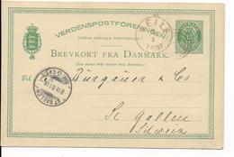 DANMARK - 1881 - CP ENTIER POSTAL Mi Nr. P13 OBLITEREE De VEILE => ST GALLEN (SUISSE) - Interi Postali