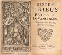Familles Nobles Et Patriciennes De Louvain - 1701-1800