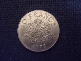 UNE PIECE  DE MONNAIE  DE MONACO  DE 10 FRANCS  1978 - Monaco
